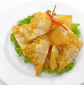 Fried dumplings asian traditional food Royalty Free Stock Photos