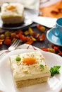 Fried egg cake Royalty Free Stock Photo