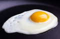 Fried egg on frying pan Stock Image