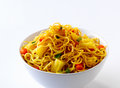 Fried egg noodles Royalty Free Stock Photography