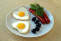 Fried eggs on a dish Royalty Free Stock Photos