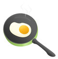 Fried eggs fry an egg with a frying pan Stock Photos