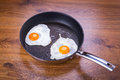 Fried eggs on the pan Royalty Free Stock Photos