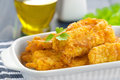 Fried fish in a batter on table Stock Photography