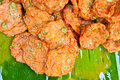 Fried fish patty thai food name tod mun Royalty Free Stock Image