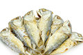 Fried fishs isolated Royalty Free Stock Photo
