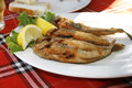 Fried goby fish