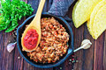 Fried ground meat Royalty Free Stock Photo