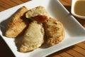 Fried leek pastry da índia Fotos de Stock