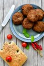 Home made   meat balls Royalty Free Stock Photo