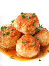 Fried meatballs Stock Images