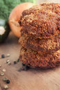 Fried minced meat steaks Royalty Free Stock Photo