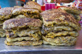 Fried murtabak close up view of at ramadan bazaar Stock Photography