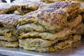 Fried murtabak close up view of at ramadan bazaar Royalty Free Stock Photography