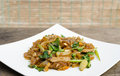 Fried noodle and pork Royalty Free Stock Photo