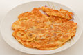 Fried omlet Stock Photo