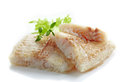 Fried pangasius fish fillet pieces Royalty Free Stock Photo