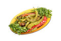 Fried peppers salad Royalty Free Stock Photo