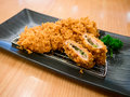 Fried pork japanese cuisine tonkatsu Stock Photo