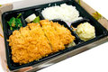 Fried pork tonkatsu japanese cuisine Royalty Free Stock Image
