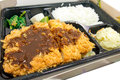 Fried pork tonkatsu japanese cuisine Stock Photo