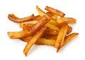 Fried potato sticks pile Stock Photos