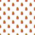 Fried potatoes pattern seamless