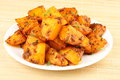 Fried potatoes. Royalty Free Stock Photo