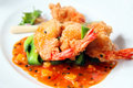 Fried prawn Stock Photography