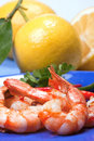 Fried prawns, seafood Stock Images