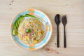 Fried rice with bacon and egg Royalty Free Stock Photo