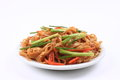 Fried rice noodles a plate of Royalty Free Stock Photos