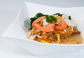 Fried rice noodles with Seafood Royalty Free Stock Image
