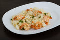 Fried rice with prawns Royalty Free Stock Photo