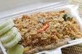 Fried rice with shellfish Royalty Free Stock Photo