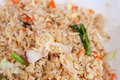 Fried rice with squid Royalty Free Stock Photo