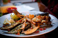 Fried seafood plate Royalty Free Stock Photo
