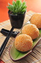 Fried sesame ball chinese food glutinous Royalty Free Stock Image