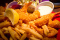 Food. Fried Shrimp French Fries