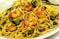 Fried shrimp noodles Royalty Free Stock Image