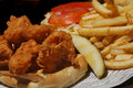 Fried shrimp Sandwich Royalty Free Stock Images