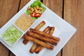 Fried spring rolls thai food Royalty Free Stock Photos