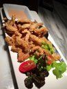 Fried squid calamari with thousand island sauce Royalty Free Stock Photo
