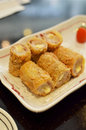 Fried tempura pork spring roll Royalty Free Stock Image