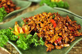Fried tofu bali style, asian healthy delicious food Royalty Free Stock Photo