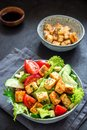 Fried Tofu Salad Royalty Free Stock Photo
