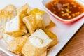 Fried Tofu with sweet souce Royalty Free Stock Photo