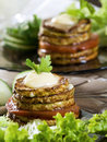 Fried vegetable marrow Stock Photography