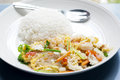 Fried vermicelli the with rice for breakfast Stock Images