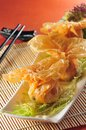 Fried wonton japanese dim sum Royalty Free Stock Photography